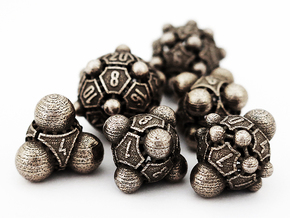 Nucleii Dice Set in Stainless Steel