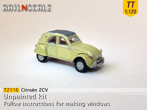 Citroën 2CV 1961-'65 (TT 1:120) in Smooth Fine Detail Plastic