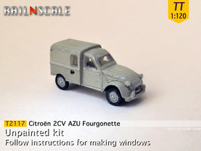 Citroën 2CV AZU 1963-'65 (TT 1:120) in Smooth Fine Detail Plastic