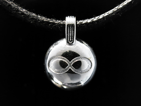 Infinity in Rhodium Plated