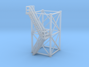 'N Scale' - 10'x10'x20' Tower With Outside Stairs in Frosted Ultra Detail