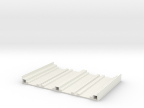 Bridge Base N Gauge in White Natural Versatile Plastic