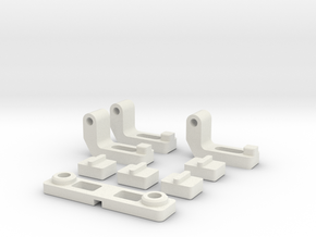 Mini Z Mr03 Variable Camber Bar in White Strong & Flexible