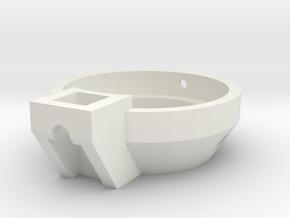Blaster Shroud Adapt Front in White Strong & Flexible