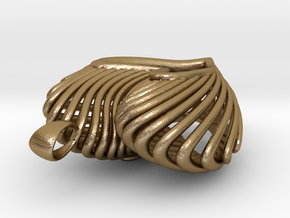 The Open Heart in Polished Gold Steel