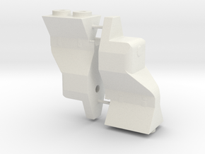 B5m 9mm Drop wing mount B5M in White Strong & Flexible