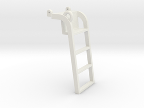 Ladder, Gleaner Combine in White Natural Versatile Plastic
