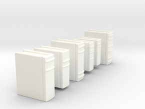 Books for 1/2 inch scale settings. in White Strong & Flexible Polished