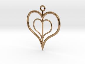 NestedheartV2 in Polished Brass