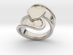 Valentinodayring  15 - Italian Size 15 in Rhodium Plated Brass