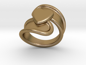 Valentinodayring  15 - Italian Size 15 in Polished Gold Steel