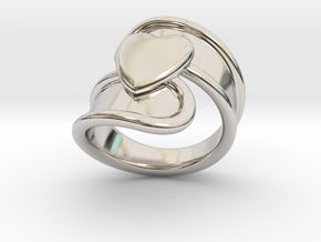 Valentinodayring  17 - Italian Size 17 in Rhodium Plated Brass