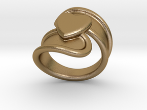Valentinodayring  18 - Italian Size 18 in Polished Gold Steel