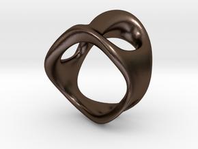 s3r032s7 GenusReticulum in Polished Bronze Steel