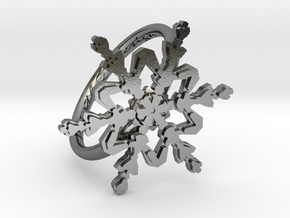 Snowflake Ring 2 d=17mm h21d17 in Polished Silver