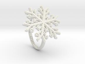 Snowflake Ring 1 d=17mm h21d17 in White Natural Versatile Plastic