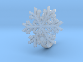 Snowflake Ring 1 d=18mm h35d18 in Smooth Fine Detail Plastic