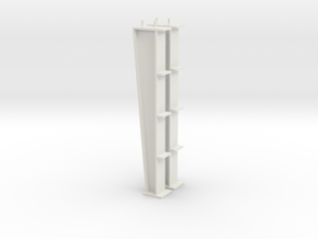 1/64 20ft I-beam Post in White Natural Versatile Plastic