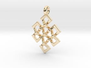 Eternal Knot in 14k Gold Plated Brass
