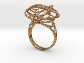 FLOWER OF LIFE Ring Nº1 in Polished Brass