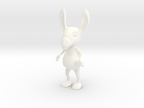 Tiny Donkey in White Strong & Flexible Polished