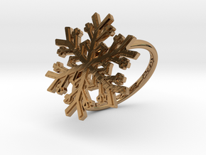 Snowflake Ring 1 d=18mm h21d18 in Polished Brass