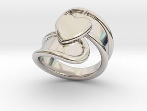 Valentinodayring  20 - Italian Size 20 in Platinum