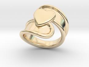 Valentinodayring  20 - Italian Size 20 in 14k Gold Plated Brass