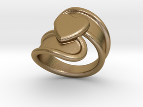 Valentinodayring  20 - Italian Size 20 in Polished Gold Steel