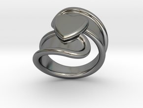 Valentinodayring  21 - Italian Size 21 in Fine Detail Polished Silver
