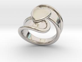 Valentinodayring  23 - Italian Size 23 in Platinum