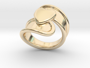 Valentinodayring  23 - Italian Size 23 in 14k Gold Plated Brass