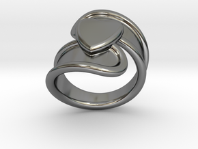 Valentinodayring  24 - Italian Size 24 in Fine Detail Polished Silver