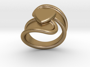 Valentinodayring  24 - Italian Size 24 in Polished Gold Steel