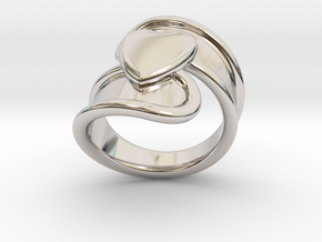 Valentinodayring  25 - Italian Size 25 in Rhodium Plated Brass