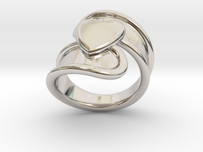 Valentinodayring  28 - Italian Size 28 in Rhodium Plated Brass