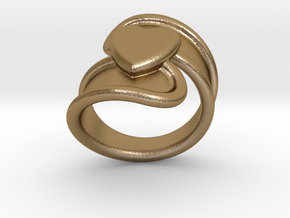 Valentinodayring  29 - Italian Size 29 in Polished Gold Steel