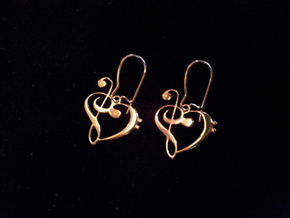 Musical Heart Premium in Fine Detail Polished Silver