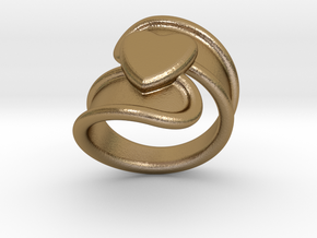 Valentinodayring  31 - Italian Size 31 in Polished Gold Steel