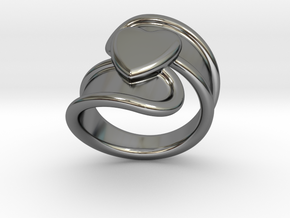 Valentinodayring  33 - Italian Size 33 in Fine Detail Polished Silver