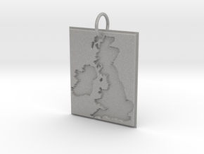 United Kingdom Silhouette Pendant  in Aluminum