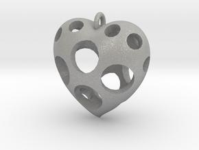 Heart Pendant #3 in Aluminum