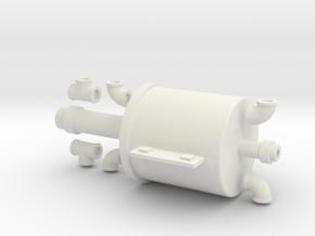 7-8n2 B&SR Vacuum Cylinder w/fittings in White Natural Versatile Plastic