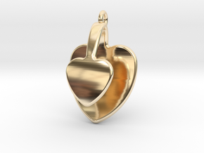San Valentino Heart Earring in 14K Yellow Gold