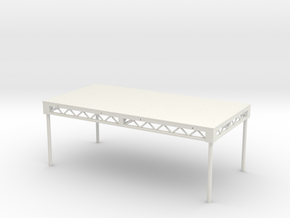 1:24 Steeldeck 8x4, with legs in White Natural Versatile Plastic