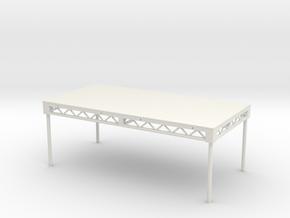 1:24 Steeldeck 8x4, with legs in White Natural Versatile Plastic