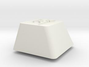 Topre row E - Protoss symbol in White Natural Versatile Plastic
