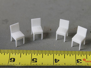Little Chairs in White Natural Versatile Plastic