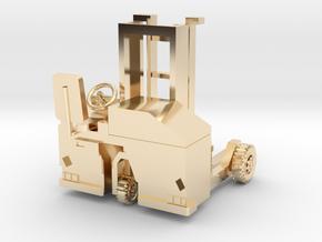 00 scale: Forklift, vorklift, Kooiaap, Gabelstaple in 14K Yellow Gold