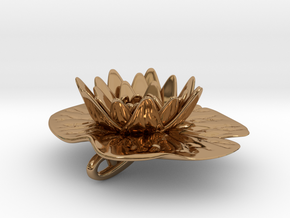 Lilypad Pendant in Polished Brass